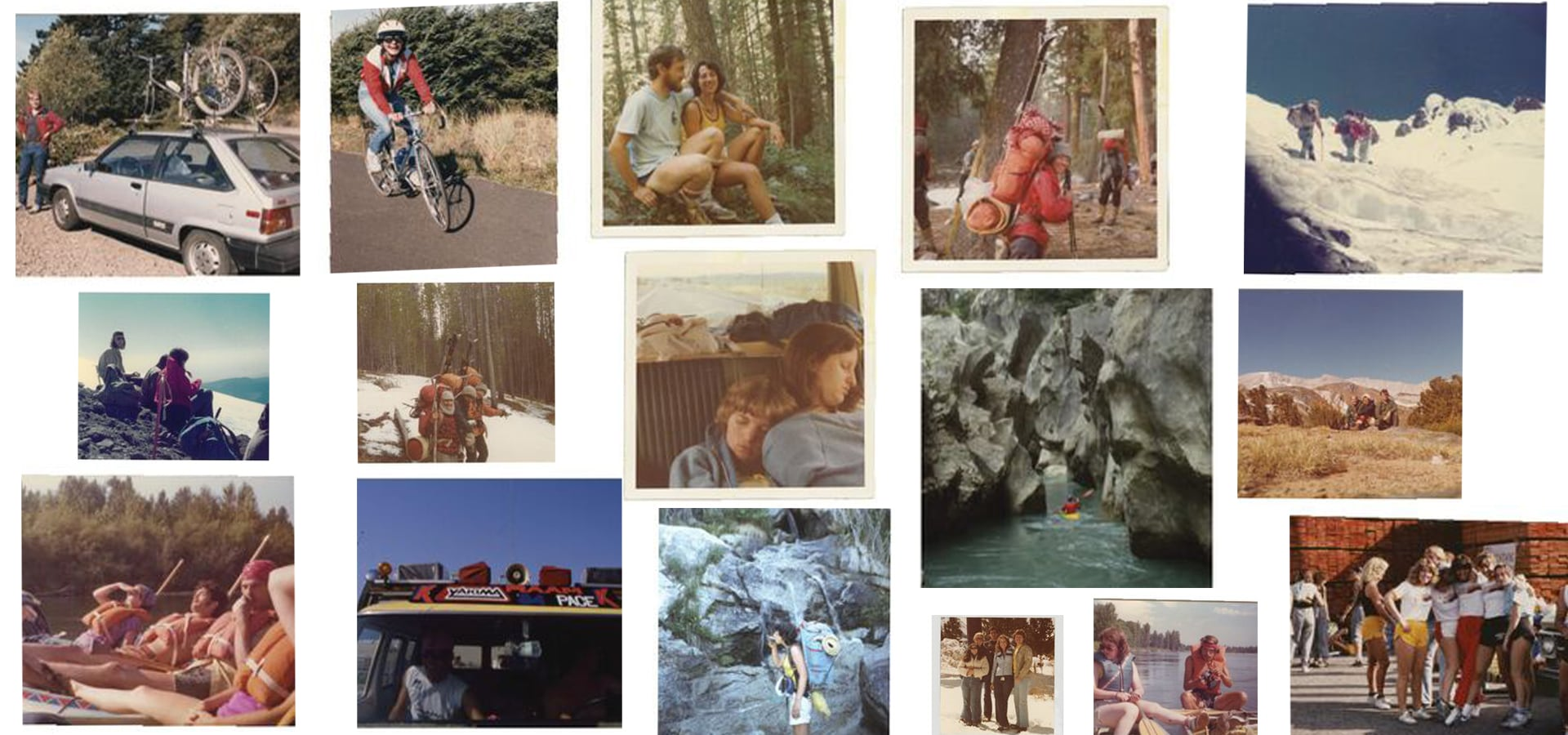 Yakima adventure products heritage collage