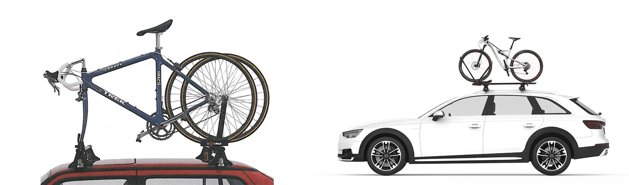Yakima bike racks - then and now